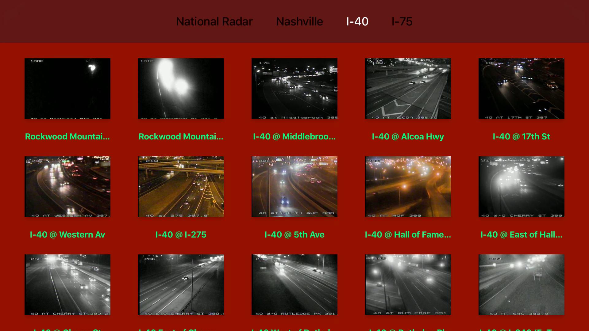 Tennessee NOAA Radar with Traffic Cameras 3D screenshot 10
