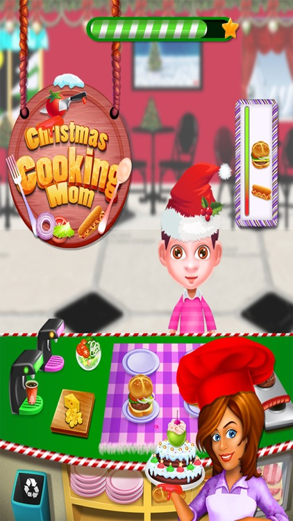 Christmas Cooking Mom - Chef Kitchen Cooking Games
