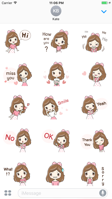 Ulrica The Sweet Girl English Stickers