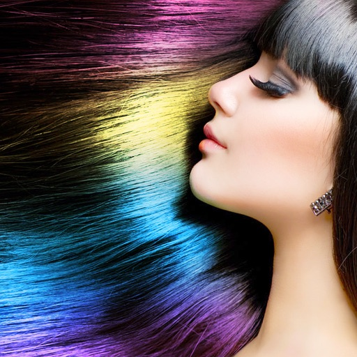 Hair Color Dye -Switch Hairstyles Wig Photo Makeup app logo