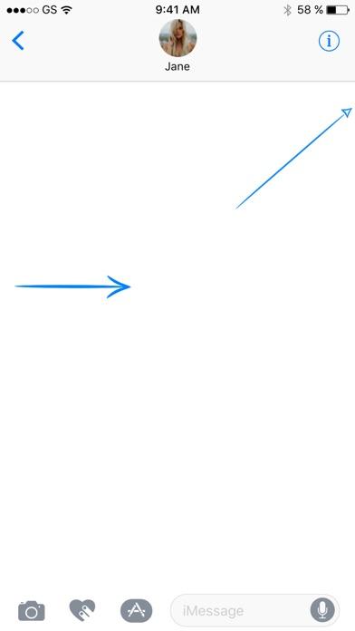 青い矢印ステッカーパックのスクリーンショット2