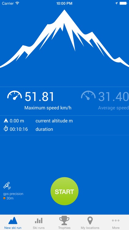 Ski run - ski/snowboard GPS tracker screenshot-0