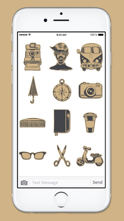 Hipster at Heart Hand Drawn Sticker Pack screenshot-3