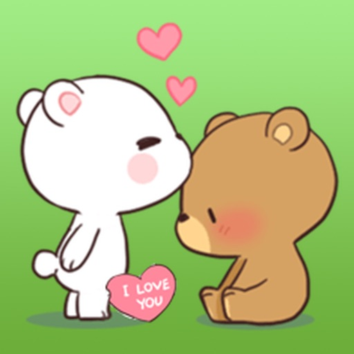 Two Bears Fall In Love Stickers