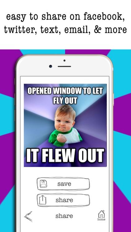 Easy Meme Maker- Funny Meme Creator & Editor Pics screenshot-4