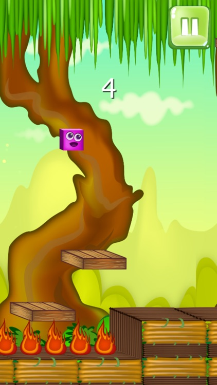 magic colorful cube jump in the world of adventure