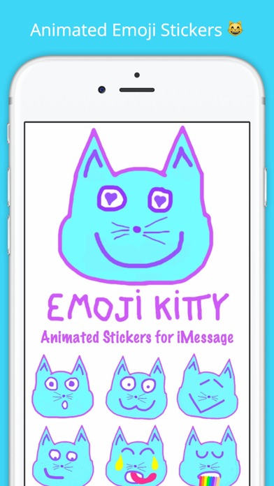 emoji kitty animated cat emojis stickers