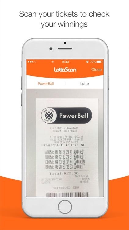 LottoScan – SA Lotto and Powerball checker