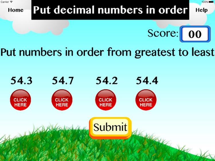 Put decimal numbers in order screenshot-4