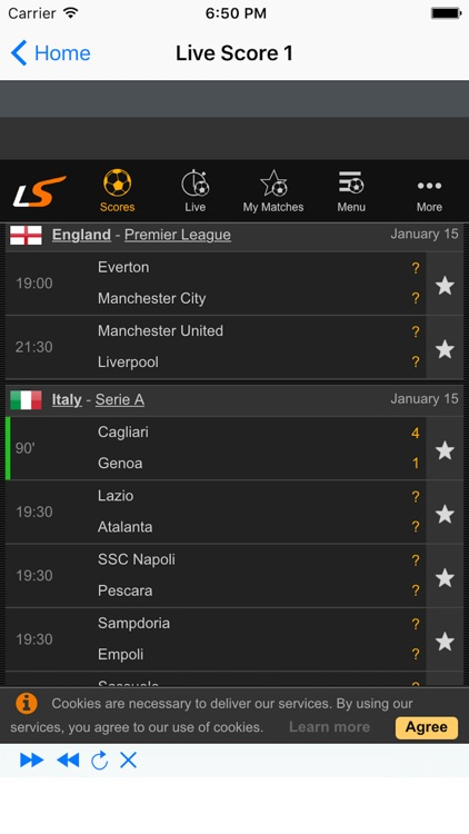 Live Football Update screenshot-2