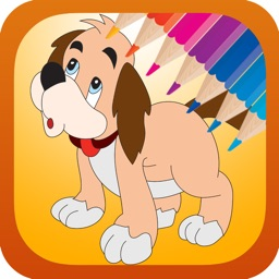 Dog coloring book free for kids toddlers