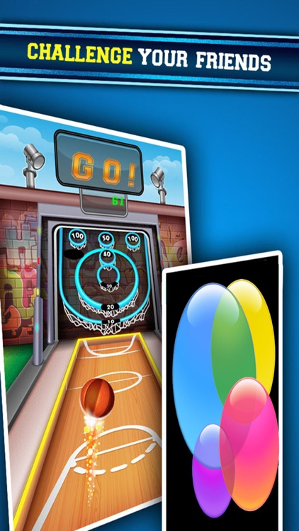 Urban Hoop Shot Basketball Bowling screenshot-3