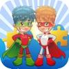 ヒーロージグソーパズル教育ゲーム年7
