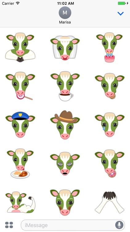 Saint Patrick's Day Cow Emoji Stickers screenshot-3