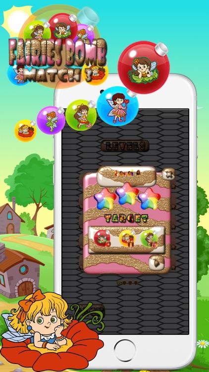 Fairies Bomb Match 3 screenshot-4