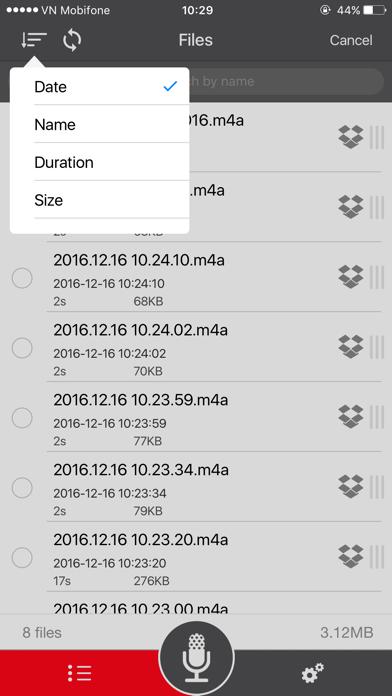 Voice Recorder for dropbox screenshot three
