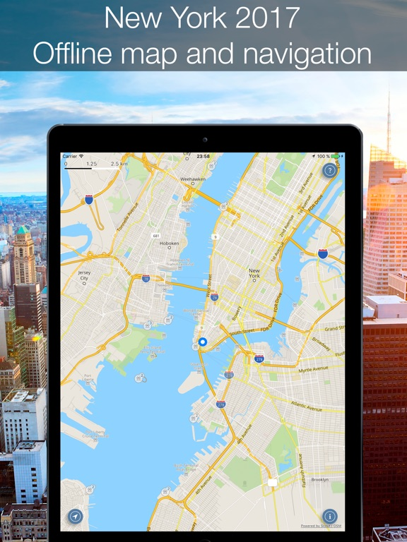 Iphone Map Of New York Offline.New York 2017 Offline Map And Navigation App Price Drops