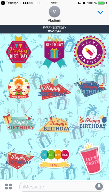 Happy Birthday - Stickers Pack