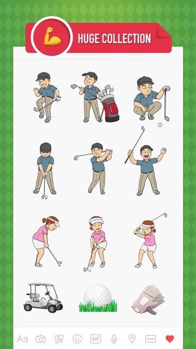GolfMoji - golfer emoji & stickers for golf lovers screenshot two