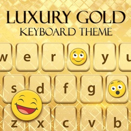Luxury Gold Keyboard - Theme Changer Emoji & Skins