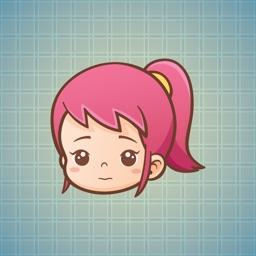 Sticker Me Pinky Girl