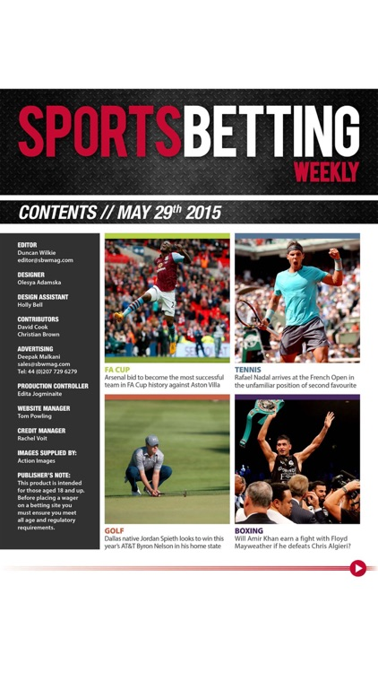 Sports Betting Weekly - Your guide to getting the best betting tips on football, rugby, golf and more