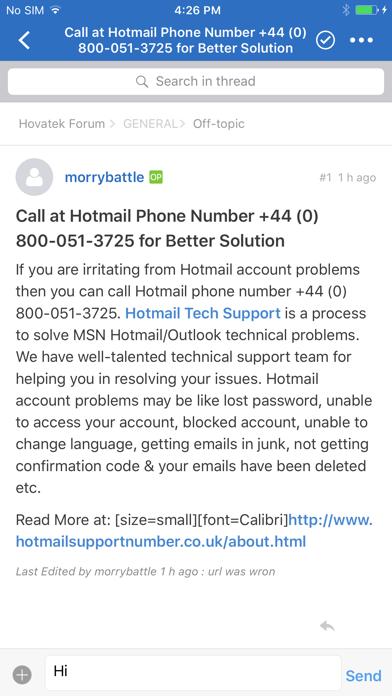 Hovatek Forum screenshot 2