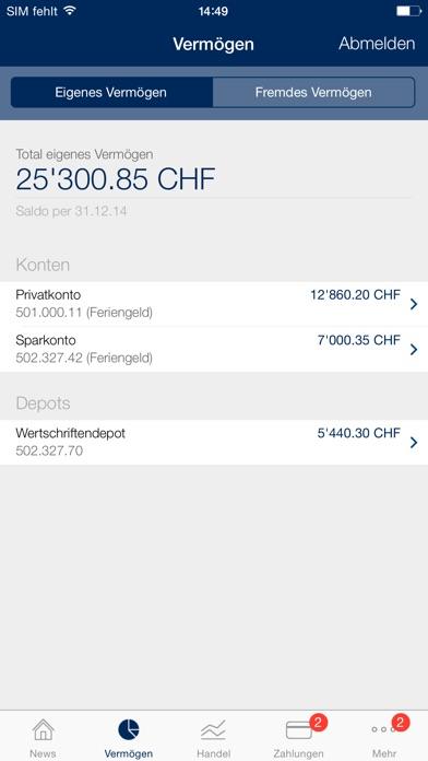 Clientis BITScreenshot von 2