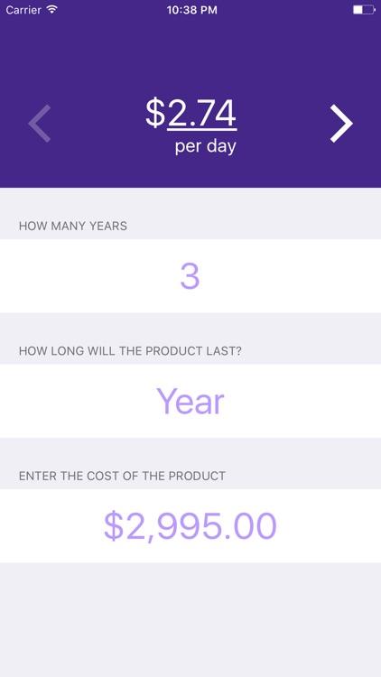 Cost Per Day screenshot-3