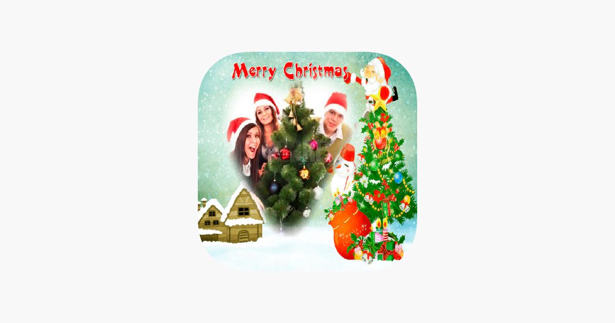 Frohe Weihnachten-Bilderrahmen - erstellen Karten im App Store