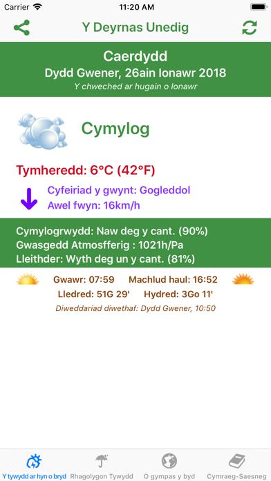 Y Tywydd - Weather in Welshのおすすめ画像3