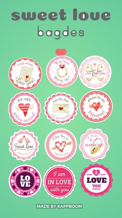 Love Badge Stickers
