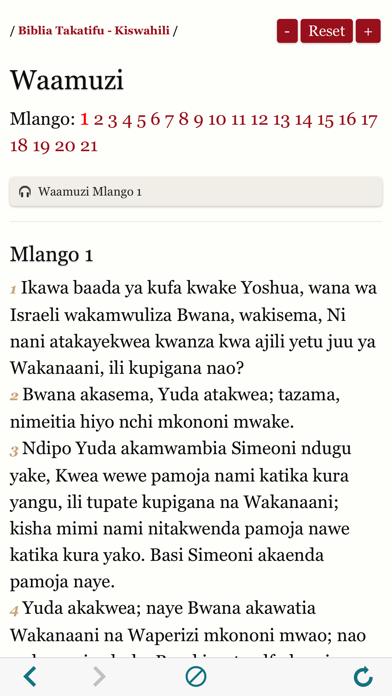 Biblia Takatifu : Bible in Swahili Audio book screenshot three