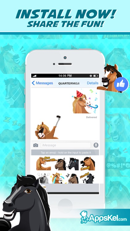 Quartermoji: American Quarter Horse Emoji Stickers screenshot-3