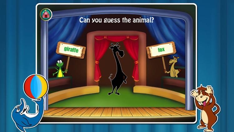 Animal Circus- Toddler Learning Games Baby Kids screenshot-3
