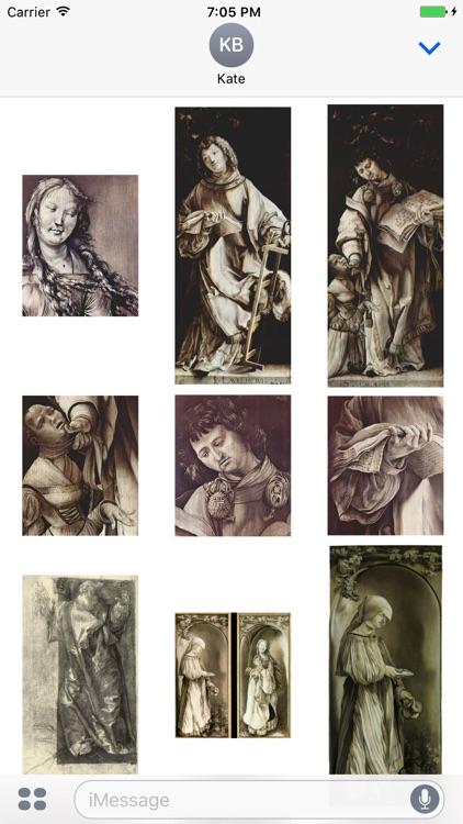 Matthias Grunewald Artworks Stickers