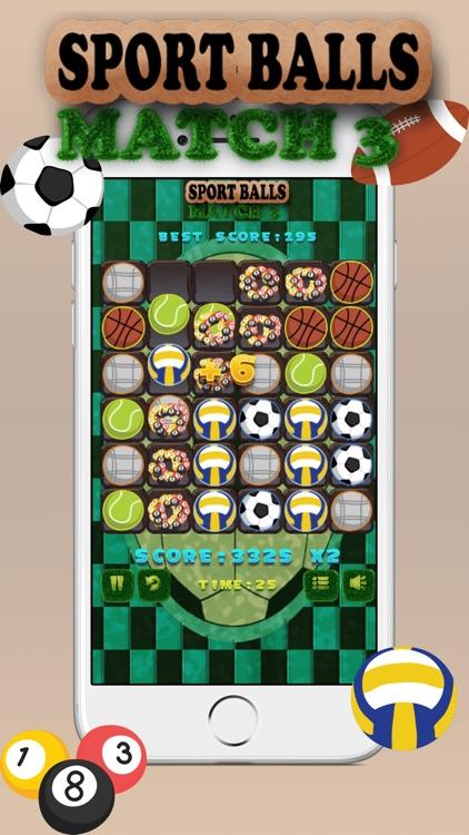 Sport Balls Match 3 screenshot-4