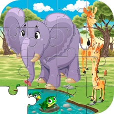 Activities of Elephant & Giraffe Puzzle Game Life Skill