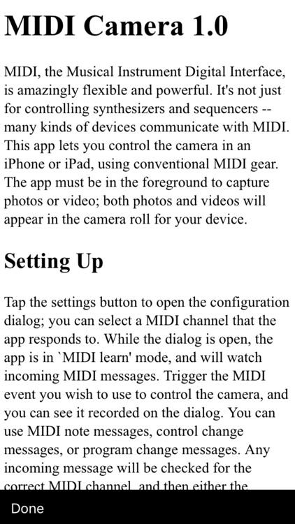 MIDI Camera screenshot-3