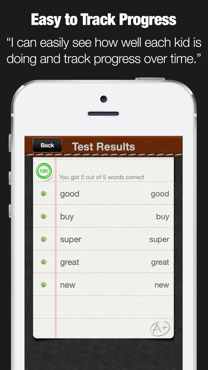 A+ Spelling Test Screenshot