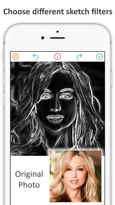 Sketch my photo drawing booth Screenshot on iOS
