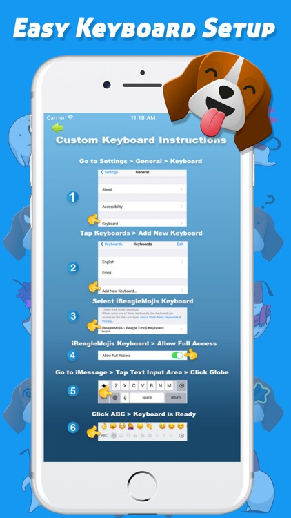 iBeagleMojis - Beagle Emoji Keyboard screenshot-4