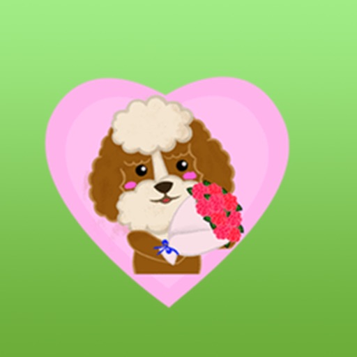 Adorable Poodle Dog Sticker