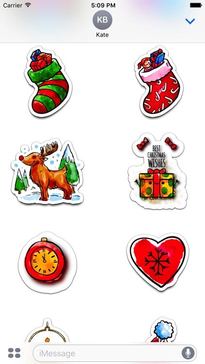Watercolor Christmas Stickers Vol. 3 screenshot-4