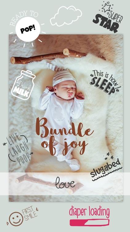 Baby Photo Story - Pregnancy Milestones Camera screenshot-4