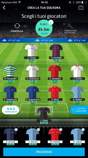 UEFA Champions League Fantasy Screenshot
