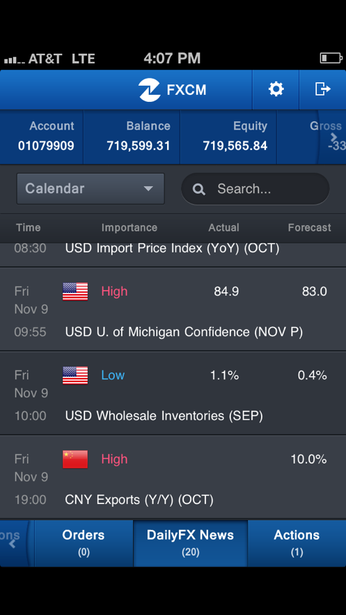FXCM Trading Station Mobile App 截图
