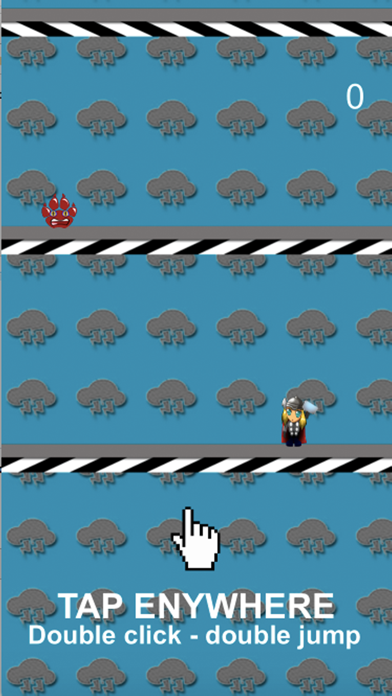 Jump for Thor vs  Paw Monster screenshot two