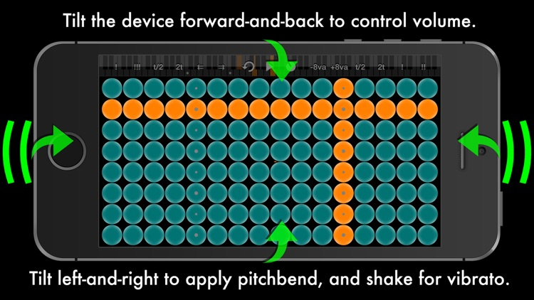 Arpeggionome for iPhone | matrix arpeggiator screenshot-3