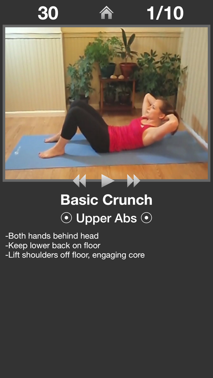 Daily Ab Workout - Abs Fitness Screenshot